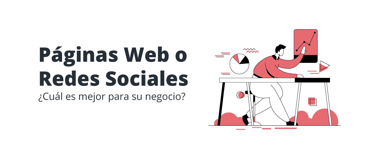 página web o redes sociales